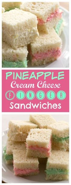 Add these little Pineapple Cream Cheese Finger Sandwiches to your recipe collection. They are great for baby showers, brunch or any holiday party.