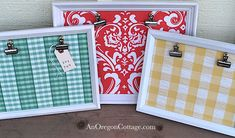 Quick Gifts: Clip Photo Boards {From Thrift Store Frames} - An Oregon Cottage