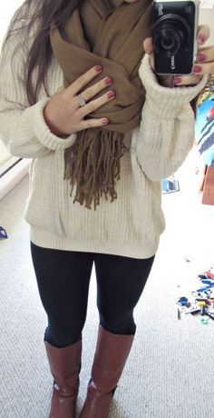 Oversized sweater :) so comfy!