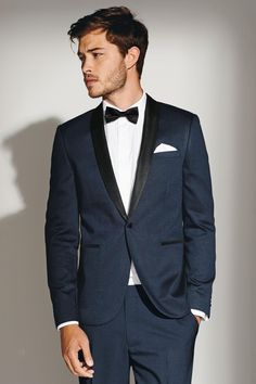 d667fa9d6df6a6 Buy Blue Shawl Collar Slim Fit Suit  Jacket from the Next UK online shop