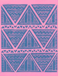 aztec geometric patterns lino - Google Search