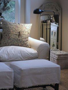 living room ottomans slipcovers