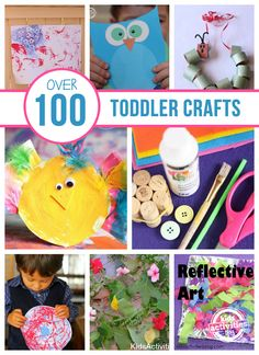 Over 100 Toddler Crafts! Definitely going to hang on to this list of fun ideas!