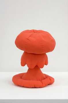 """Dunne & Raby project """"Designs for Fragile Personalities in Anxious Times"""" 2004/5:  The Huggable Atomic Mushroom and Hideaway Furniture (for those fearing abduction)!"""