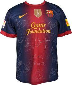 2012-13 Barcelona Team Signed Jersey - Sports Memorabilia