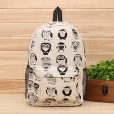 Wow! Cute Cartoon Multi-Expression Owl Canvas Backpack only $28.99 from ByGoods.com! I like it so much!!