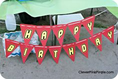 Lego Birthday Party Banner with Lego Font and Banner Template