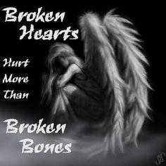 Broken hearts hurt more than broken bones