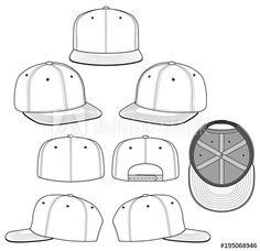 SNAPBACK 2018 white vector illustration flat sketches template