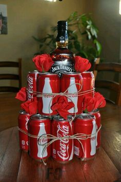 DIY alcohol cake for xmas pressi's