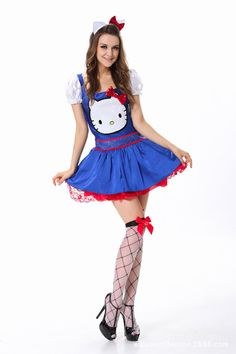 Anime Girls Dress up PromotionShop for Promotional Anime Girls Dress up on Aliexpress.com Hello Kitty Halloween Costume, Snow White Halloween Costume, Halloween Costumes For Girls, Costumes For Women, Halloween 2020, Anime Girl Dress, Girls Dress Up, Anime Girls, Cosplay Dress