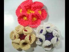 How to make a 3d crochet flowers.