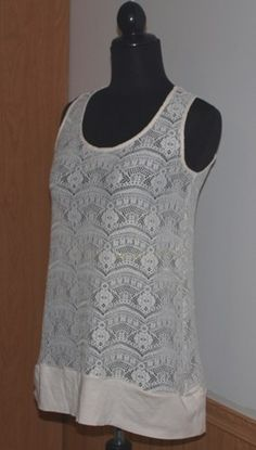 Ivory Cotton Lace #Tunic Women's shirt from The #Gypsy Cottage on #Artfire.com