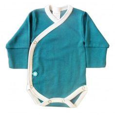 Body Kimono LS VerdePetrol/Blanco