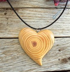 Pendant  Wood Pendant  Necklace  Handmade by forestinspiration, $18.00 lovely scandi,zakkaor lagenlook style heart of wood pendant...great accessory for those arty,neutral colour romantic ethnic style days...with pinafore or apron dresses or dungarees