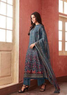 82a6e11f92 Buy Esta Allura Digital Printed Pashmina with Handwork Suits 03 Allura,  Winter Collection, Salwar
