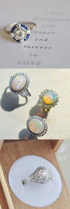 Love the unique feel of these one-of-a-kind vintage rings.