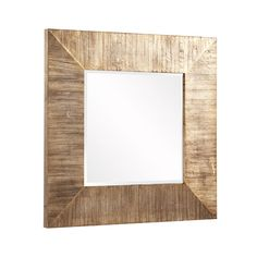 From the entryway to bedroom to living room, the Square Reflection Wall Mirror adds modern sophistication to any décor with its reclaimed wood planks and gold accents. Gaze into its wondrous square cen...  Find the Square Reflection Wall Mirror, as seen in the Rustic Luxe in Park City Collection at http://dotandbo.com/collections/rustic-luxe-in-park-city?utm_source=pinterest&utm_medium=organic&db_sku=HOW0094