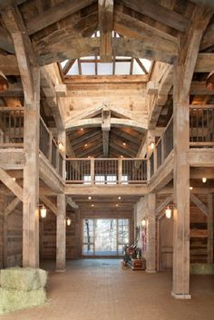 Open Beam.  What a BEAUTIFUL barn!