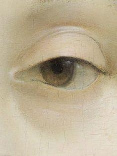 Detail: Ginevra de' Benci (c. 1474 - 1478) by Leonardo da Vinci.