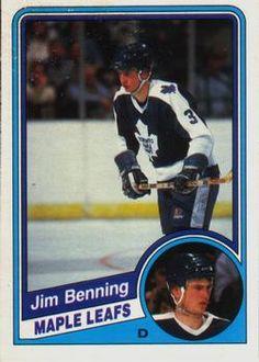 1984-85 O-Pee-Chee #296 Jim Benning Front