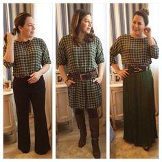 Mais uma da série #reinventeasuapeça. O vestido que virou blusa em duas versões. #useoquevocêtem #tenteinventereivente