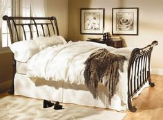 Antique Wrought Iron Beds Furniture Design By Wesley Allen  kinda like this bedding...