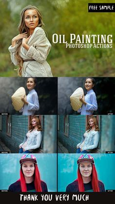 Free Oil Painting Photoshop Actions