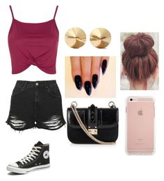 """pretty ma"" by cupcakeavenue2014 ❤ liked on Polyvore featuring Topshop, Converse, Valentino and Eddie Borgo"