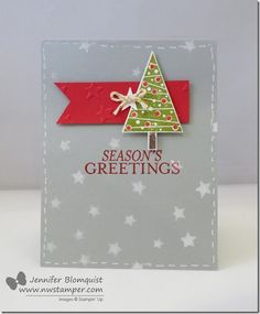 A Christmas Card with a NEW Tree Punch for the NEW Holiday Catalog! | Northwest Stamper See more details here - http://www.nwstamper.com/a-christmas-card-with-a-new-tree-punch-for-the-new-holiday-catalog/ #stampinup #cardmaking #diy