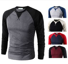 Stylish Men's Slim Fit O Neck Long Sleeve Casual Tee T Shirt Casual Tops Blouse in Clothing, Shoes & Accessories, Men's Clothing, T-Shirts Casual T Shirts, Cool T Shirts, Stylish Men, Men Casual, Casual Tops, Long Sleeve Baseball Shirts, New Mens Fashion, Winter Hoodies, Mens Fall