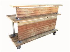 Our Movable Feast Buffet Bar made with reclaimed wood and old tin roofing