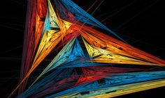Abstraction, background, triangle, fractal art, hd, wallpaper hd,  rays, lines,