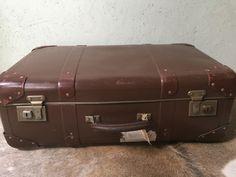 Old suitcase Verlin vulcan fiber. Old Suitcases, Fiber, Old Trunks