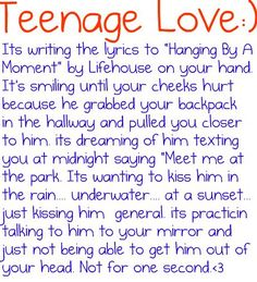 Teenage Love:) by JulietsQuotes♥