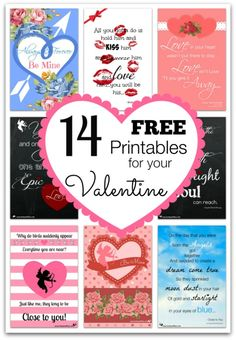 14 FREE Printables for Your Valentine - Toot Sweet 4 Two