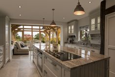 35 Fabulous Conservatory Kitchen Design Ideas That You Definitely Like - It is astonishing how much the design of kitchens has changed in recent years. Traditionally kitchens were one of the largest rooms in the house. Orangery Extension Kitchen, Kitchen Orangery, Conservatory Kitchen, Kitchen Diner Extension, Orangery Conservatory, Open Plan Kitchen Living Room, Big Kitchen, Open Plan Living, Kitchen Design