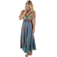 Seersucker Panel Dress on Sale for $48.95 at The Hippie Shop