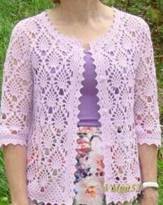 Fabulous Crochet a Little Black Crochet Dress Ideas. Georgeous Crochet a Little Black Crochet Dress Ideas. Crochet Bolero Pattern, Gilet Crochet, Crochet Coat, Black Crochet Dress, Vest Pattern, Crochet Cardigan, Crochet Clothes, Crochet Lace, Crochet Vests