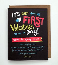 Funny Valentine's Day Card for new relationships by KatFrenchDesign