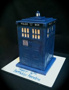 Doctor Who TARDIS birthday cake!