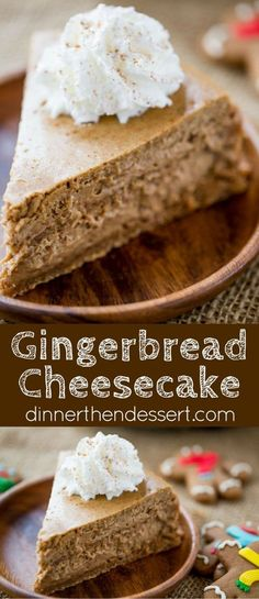 Gingerbread Cheesecake is creamy and tangy and full of warm holiday flavors that is the perfect ending to your favorite holiday meal. AD SpiceYourHoliday christmas food ideas for dinner New Year's Desserts, Christmas Desserts, Delicious Desserts, Yummy Food, Christmas Meals, Italian Christmas, Christmas Drinks, Christmas Christmas, Holiday Baking
