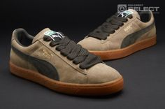 Puma Trainers - Puma Suede Classic Eco - Mens Trainers - Seneca Rock - Peat