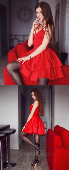 Sexy Red A Line Sweetheart Mini Homecoming Dresses Cocktail Dresses Hoco Dresses, Cheap Prom Dresses, Cheap Wedding Dress, Girls Dresses, Inexpensive Homecoming Dresses, Affordable Bridesmaid Dresses, Sexy Cocktail Dress, Cocktail Dresses, Special Occasion Dresses