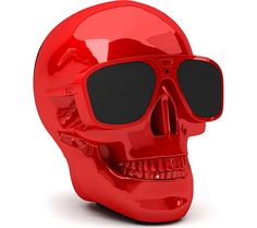 JARRE  AeroSkull XS  Portable Wireless Speaker - Glossy Red, Red Price: £ 199.00 Top features: - A unique and portable speaker you can take anywhere - Listen for up to 10 hours with a rechargeable battery - Hear music stored on your smartphone using Bluetooth and NFC - Get CD-like quality wirelessly thanks to aptX technology A unique design A unique skull design stands out in any living...