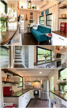 A 28′ tiny house located in Sylva, North Carolina. Owned and shared by Erin Adams. The perfect home to get some tiny house decor ideas! #tinyhouseinspiration