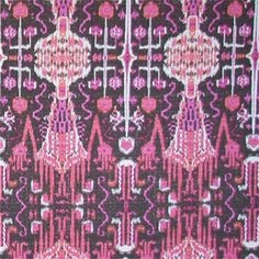 Bombay Raspberry Contemporary Drapery Fabric - - Fabric By The Yard At Discount Prices Textiles, Textile Patterns, Textile Design, Ikat Pattern, Pretty Patterns, Color Patterns, Contemporary Drapery Fabric, Textile Texture, Fabric Wallpaper