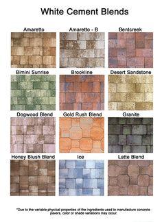 colored pavers   Brick Paver Colors, Install Pavers, Brick Patio, Sebastian, Florida ...