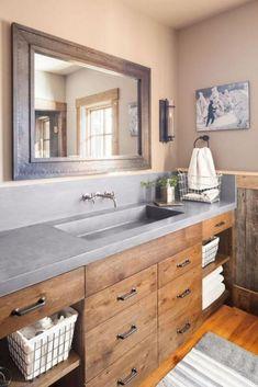 65 Amazing Farmhouse Bathroom Remodel Decor Ideas