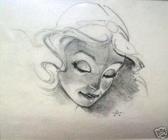 John Alvin's original Disney drawing.
